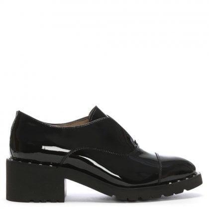 Skirret Black Patent Leather Loafers