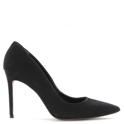 Skycrambe Black Suede High Court Shoe