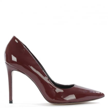 Skycrambe Burgundy Patent High Court Shoe