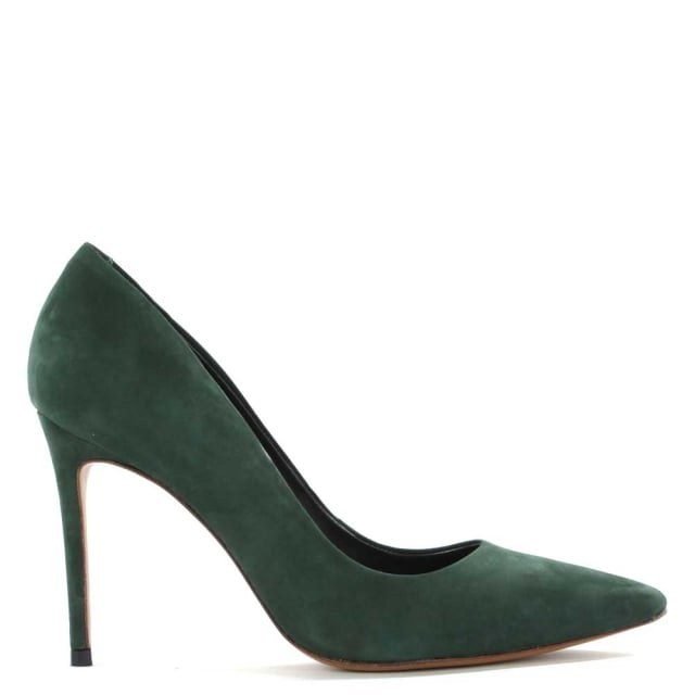 Skycrambe Green Suede High Court Shoe