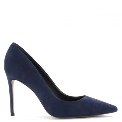 Skycrambe Navy Suede High Court Shoe