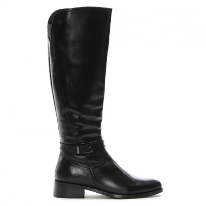 Sleeper Black Leather Vent Knee High Boots