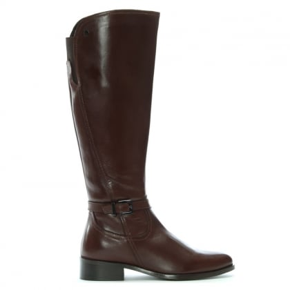 Sleeper Brown Leather Vent Knee High Boots