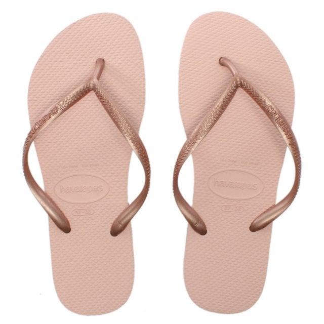 2c39726b5b6e Havaianas Slim Ballet Rose Logo Flip Flops