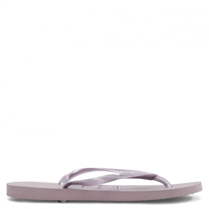 Slim Purple Toe Post Flip Flop