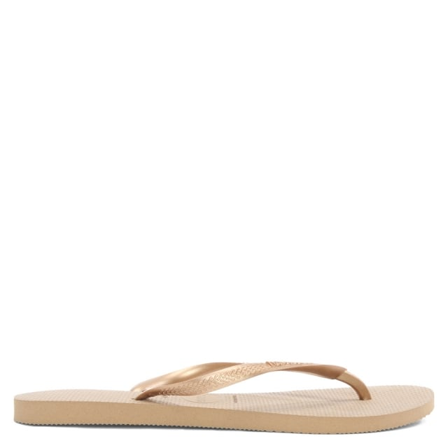 Slim Rose Gold Logo Flip Flops
