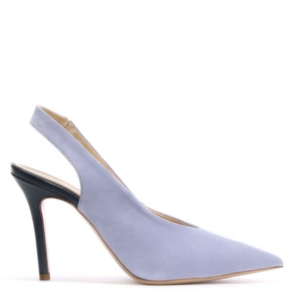Slings Lilac Suede Sling Back Court Shoes