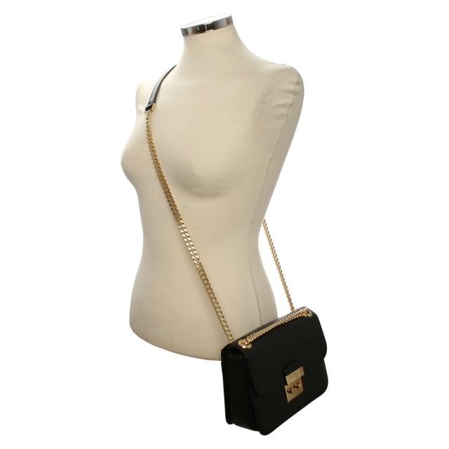 f2f0125ec81 Michael Kors Sloan Editor Medium Black Leather Shoulder Bag