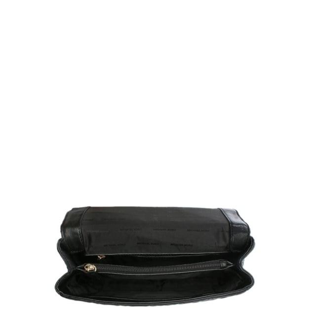 5c6894d0444f Michael Kors Sloan Quilted Black Leather Grommet Shoulder Bag