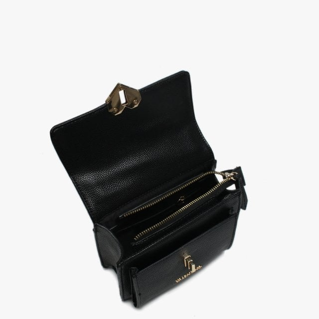 08cc0439925 Valentino By Mario Valentino Branding Small Amelie Black Heart Clasp ...
