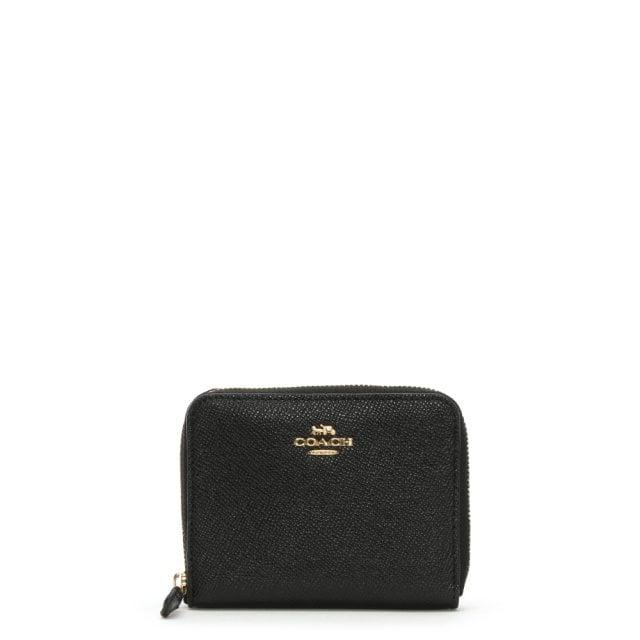 b20cf257de4b Coach Small Black Leather Zip Around Wallet