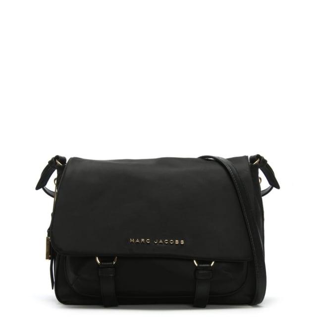 Small Black Nylon Messenger Bag