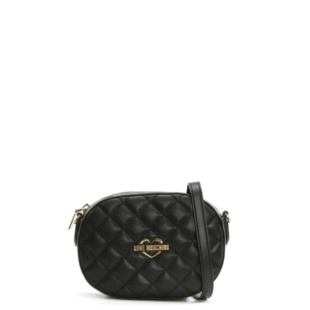 Small Black Quilted Cross-Body Bag