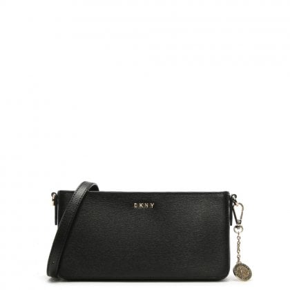 Small Black Textured Leather Cross-Body Bag