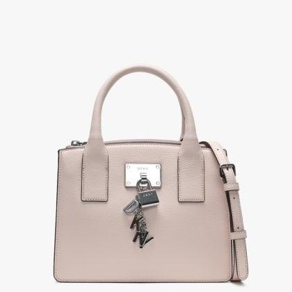 64a0ba31bd71 Small Ellissa Quartz Leather Tote Bag