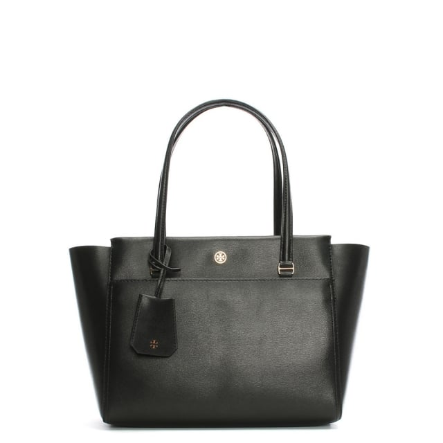 Small Parker Black Leather Tote Bag