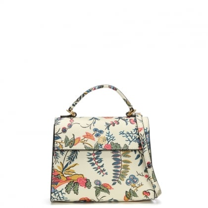 Small Parker Gabriella Floral Leather Satchel Bag
