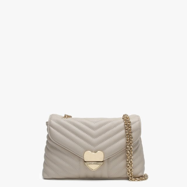 3029eb748049 Valentino By Mario Valentino Small Rapunzel Beige Quilted Shoulder Bag
