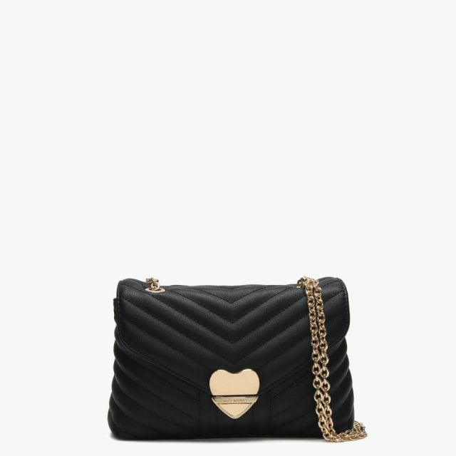 633d3813ece5 Valentino By Mario Valentino Small Rapunzel Black Quilted Shoulder Bag
