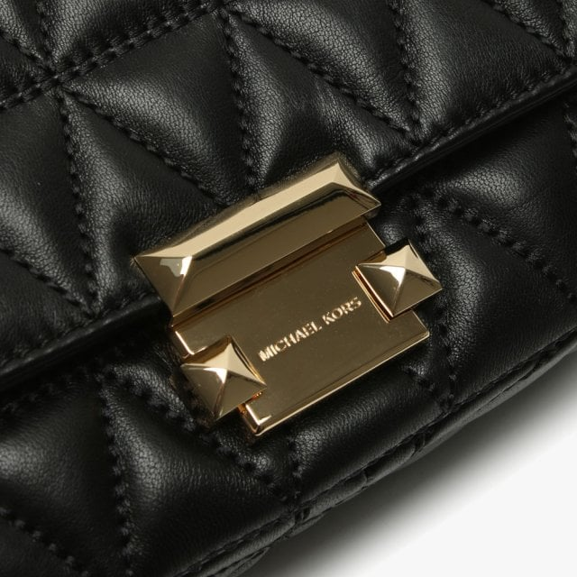 dfb66cdfb6e3 Michael Kors Small Sloan II Black Quilted Leather Cross-Body Bag