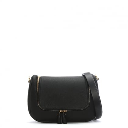 Small Vere Black Leather Satchel Bag