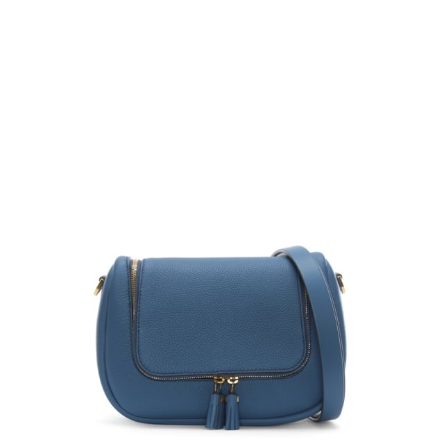 Anya Hindmarch Small Vere Periwinkle Leather Satchel Bag
