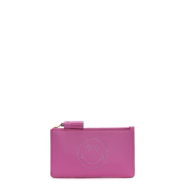 Anya Hindmarch Smiley Bubblegum Circus Zipped Card Key Case
