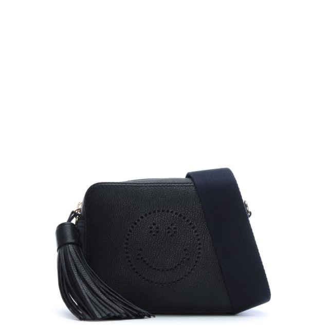 Anya Hindmarch Smiley Marine Sugar Leather Cross-Body Bag