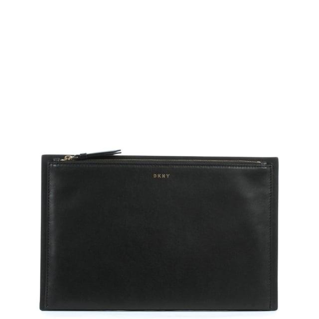 DKNY Smooth Black Leather Clutch Bag a3627c859