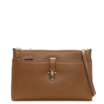 Snap Pocket Acorn Leather Cross-Body Bag