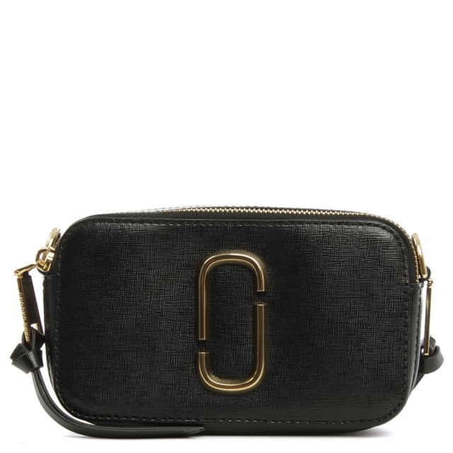 Snapshot Black Leather Camera Bag