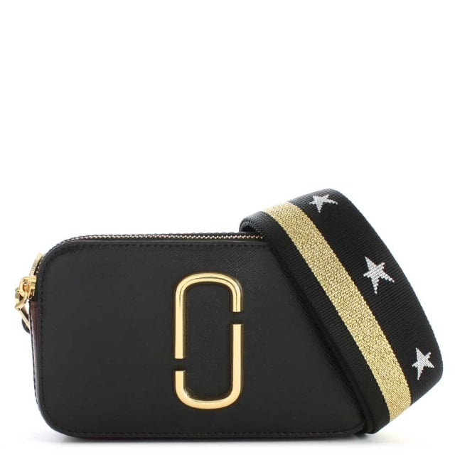0fcc4ce0f300 Marc Jacobs Snapshot Black Leather Small Camera Bag