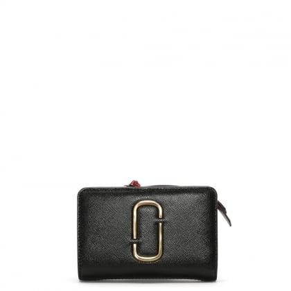 Snapshot Compact Black Chianti Leather Wallet