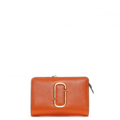 Snapshot Compact New Orange Leather Wallet