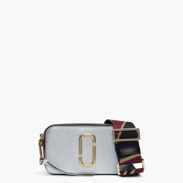 7d15979aa572 Marc Jacobs Snapshot Silver Multi Leather Camera Bag