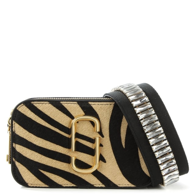 Snapshot Zebra Calf Hair & Leather Camera Bag