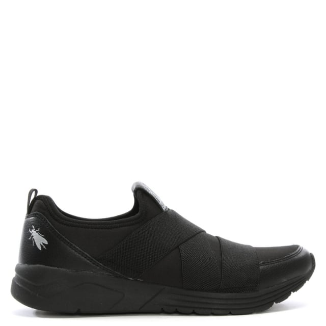 Snok Black Elasticated Strap Trainers