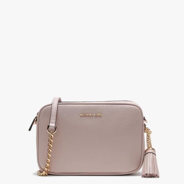 4bb879cc80c84 Michael Kors Soft Pink Pebbled Leather Camera Bag