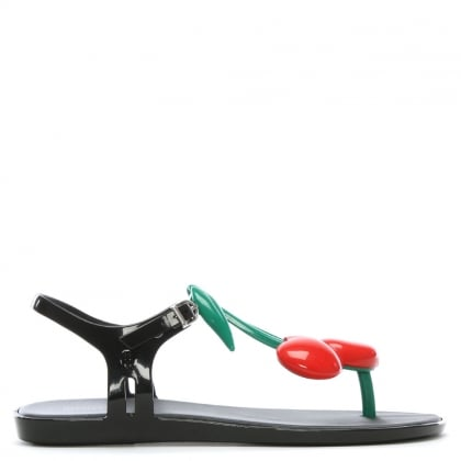 Solar Black Cherry Toe Post Sandals