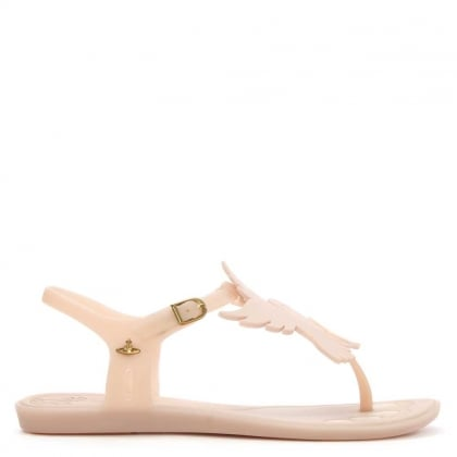 Solar Dove Pink Rubber T Bar Sandal