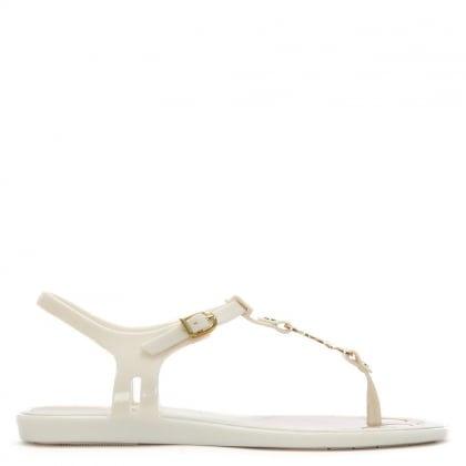 Solar Orb White Toe Post Sandal