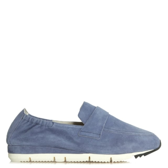Song Navy Suede Metallic Loafer