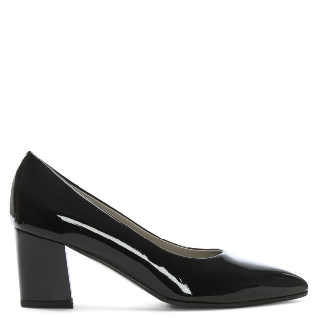 Sonta Sonta Court Heel Patent Calpierre Black Learher Learher Shoes pdx1w7q