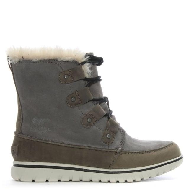 Sorel Cozy Joan Grey Suede Ankle Boots