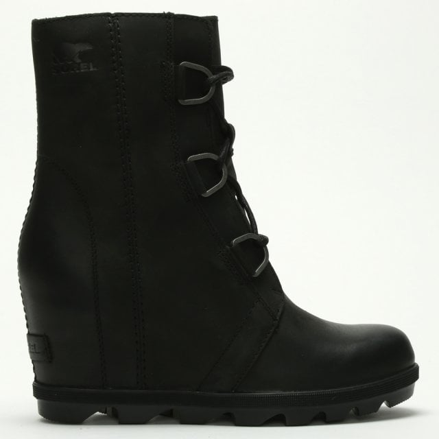 Waterproof Leather Wedge Boots | Shop