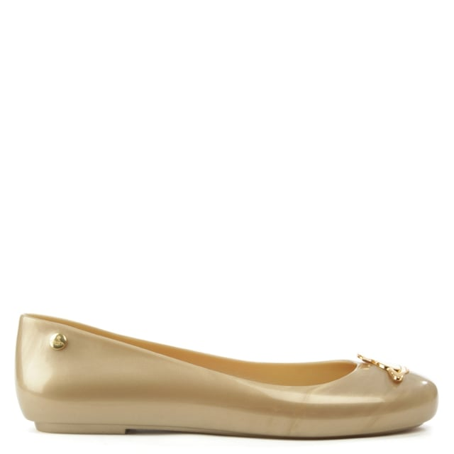 Space Love Gold Pealized Orb Ballet Flat