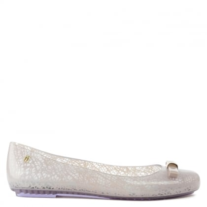 Melissa Space Love Jason Wu Pink Lace Print Ballet Pump