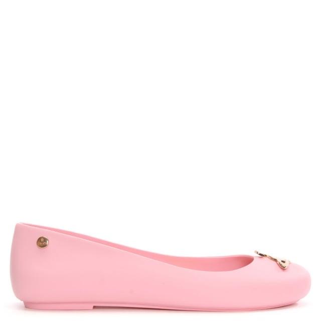 Matt Baby Pink Orb Ballerina Flat
