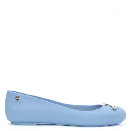 Space Love Matt Sky Blue Orb Ballerina Flat