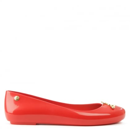 Space Love Red Orb Ballet Pump